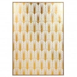 "Toile ""ART DECO""  - White & Gold - 140x100cm"