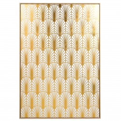 "Toile ""ART DECO""  - White & Gold - 140x100cm"