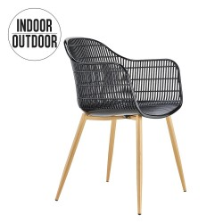 Chaise Noir Indooroutdoor Gridy Blancamp; vw80mNnO