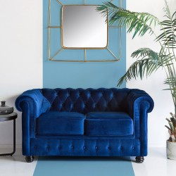 Canapé CHESTER - Velours Royal Blue