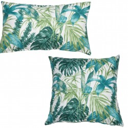 Coussin GREEN TROPICS - Format Boudin ou Square