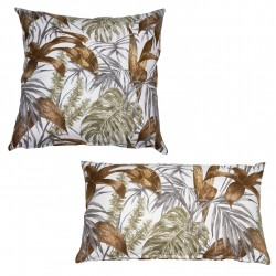 Coussin BROWN TROPICS - Format Boudin ou Square