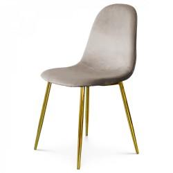 Chaise BAYAN - Taupe & Gold