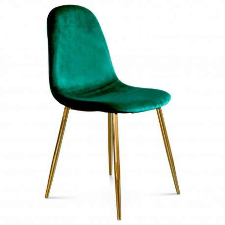 Chaise BAYAN - Green & Gold