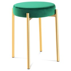 Tabouret USH Laiton & Velours - 4 finitions