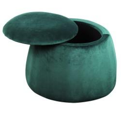 Tabouret & coffre DOMUS - Velours - Emerald