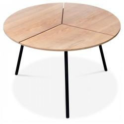 Duo de tables ODI - Frêne naturel & lasuré