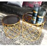 Duo de tables SYLIA GOLD