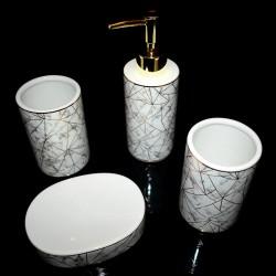 Set de bain GRAFIK - White & Gold