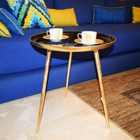 Table d'appoint LUXA - Black & Gold