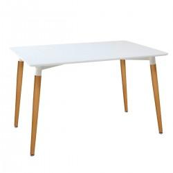 Table à manger THEO - 120x80cm - Hêtre massif & HDF laqué