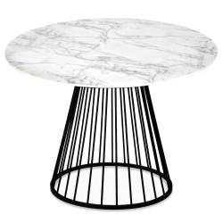 Table à manger RING Façon marbre - Black Edition