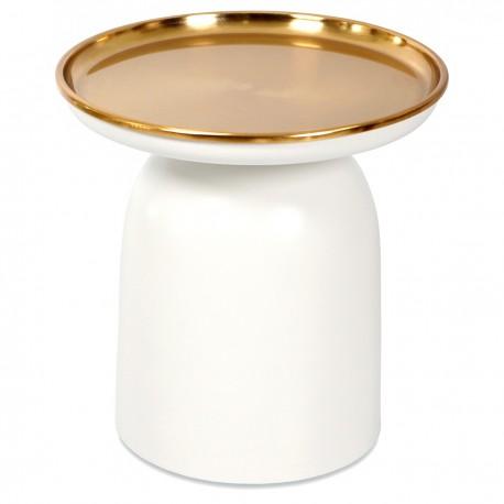 Guéridon JELLY - White & Gold