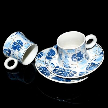 Coffret service à café 6pers BLUE TROPICS
