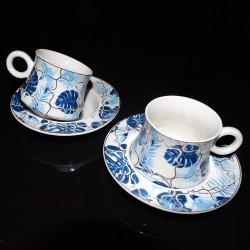 Coffret service à thé 6pers BLUE TROPICS