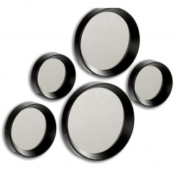 Ensemble de 5 miroirs RUNDI - Noir ou Blanc