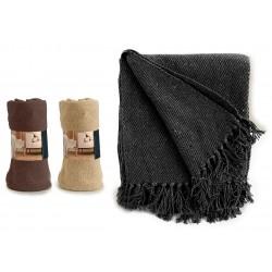 Plait tricot fin MAYA - Noir, Écru ou Brun