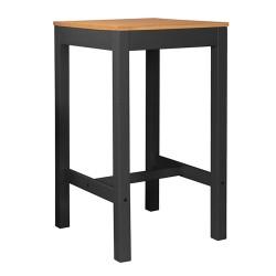 Table haute RENZO - Anthracite & Chêne