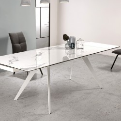 Table à manger extensible DUKEN - White