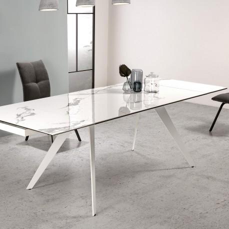 Table à manger extensible DUKEN - White
