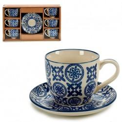 Coffret service à café 6pers - BLUE ORIENT