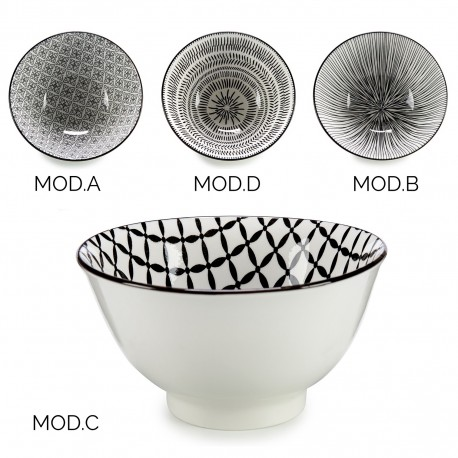 Bol en porcelaine GRAPH  - 16 cm - 4 motifs au choix