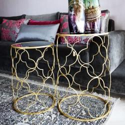 Duo de tables TREFOIL GOLD