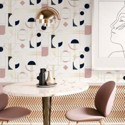 Papier Peint DAISY - Blush pastel - 10m x 53 cm