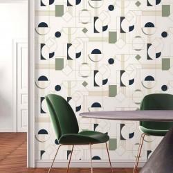 Papier Peint DAISY - Vert pastel - 10m x 53 cm
