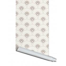Papier Peint  HAN'I - Crème & nacre - 3 m x 52 cm