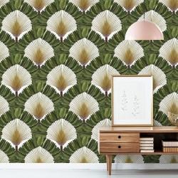 Papier Peint  Ravinala - Green - 3 m x 53 cm