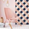 Papier Peint CIELDA - Coral & Blue - 10m x 53 cm