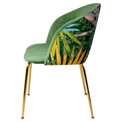 Chaise LALY Velvet & Gold - Single green Edition