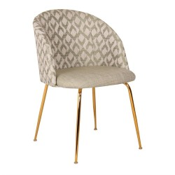 Chaise LALY Cotton & Gold - Jazz Edition