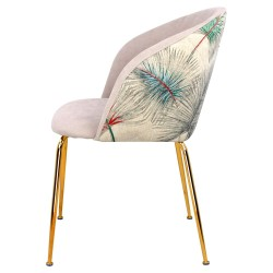 Chaise LALY Velvet & Gold - Palmy Edition
