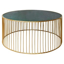 Table basse HAZEL Marble & Gold