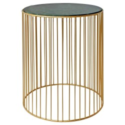 Table d'appoint HAZEL Marble & Gold