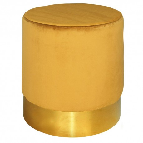 Tabouret YOANY Velours - L - Curry
