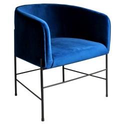 Fauteuil ASHER Velvet - Blue