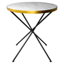 Table à manger VINY Marble & Gold - 70cm