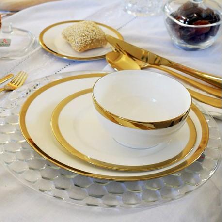 Service de table 24 pièces - YAKA Or & soupière offerte