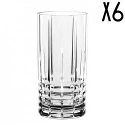 Coffret de 6 verres longs en Cristal - LAND