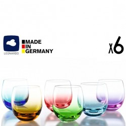 Coffret de 6 verres Color by Leonardo
