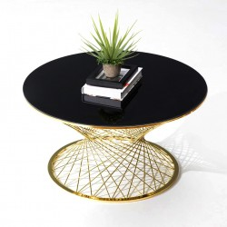 Table basse TWIST Black & Gold