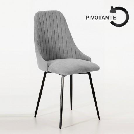 Chaise NEODE pivotante - Gris chiné