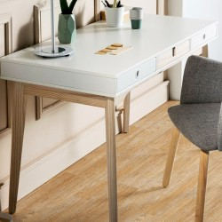 Bureau RANDAL - White & Natural