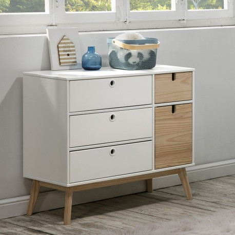 Commode RANDAL - White & Natural