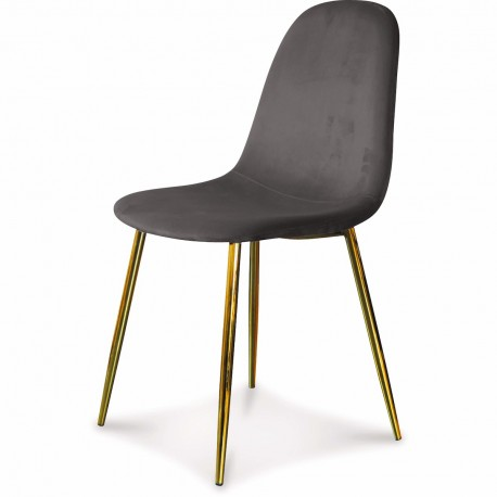 Chaise BAYAN - Antharacite & Gold