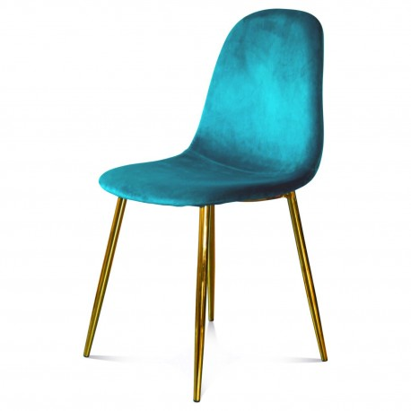 Chaise BAYAN - Ocean Blue & Gold
