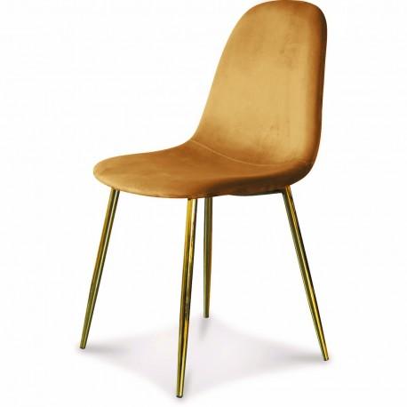 Chaise BAYAN - Kraft & Gold